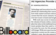 Billboard Invites Blumenthal to Write About Digital Innovation for Music Industry